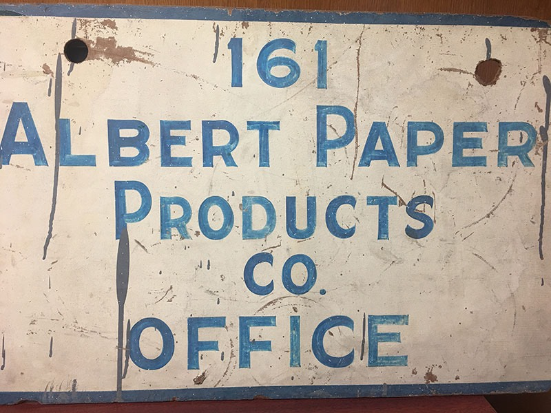 Albert Paper Products Old Signage